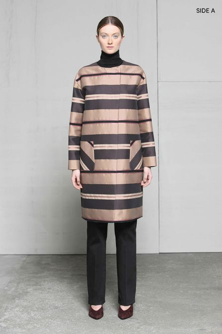 Reversible Straight-Cut Two Buttons Coat
