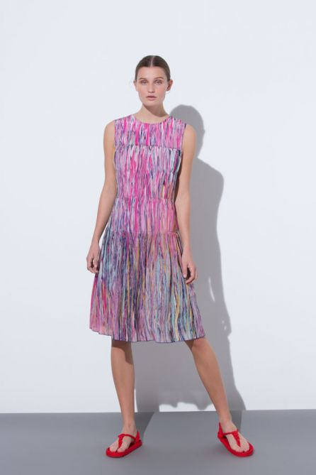 Gathered Effect Reversible Dress