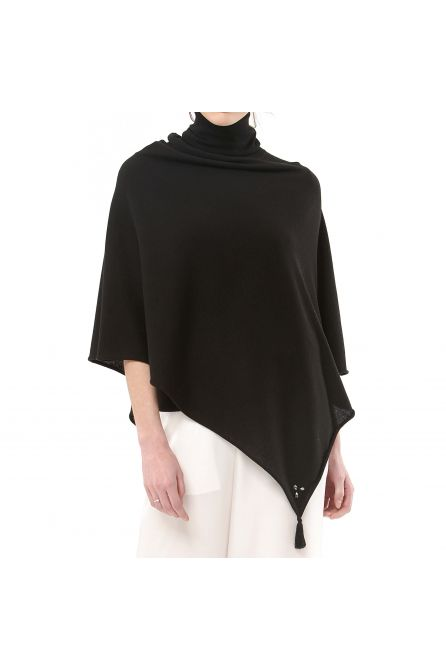 CASHMERE KNITTED PONCHO