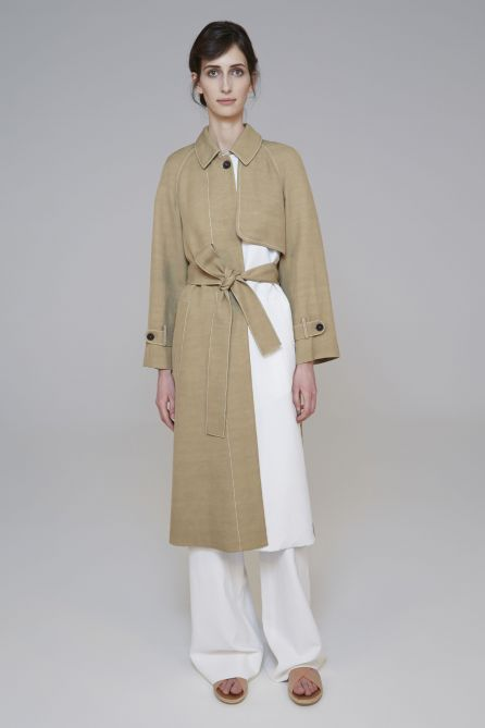 Pleated Back Trench