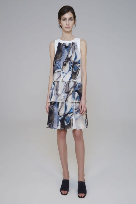 Reversible Double Sided Layered Draped Dress