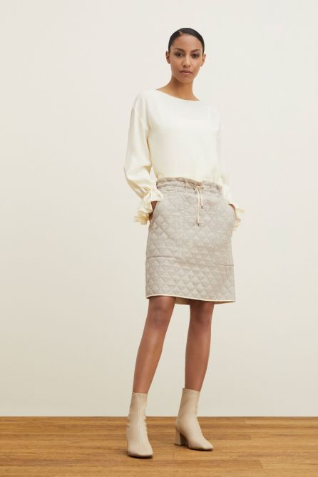 REVERSIBLE QUILTED SKIRT