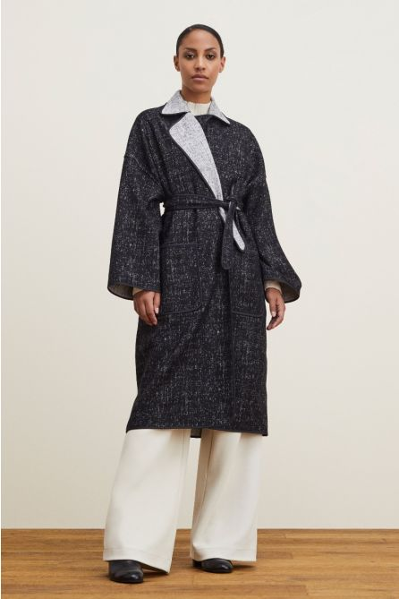 REVERSIBLE COCOON BELTED COAT (Coming Soon)