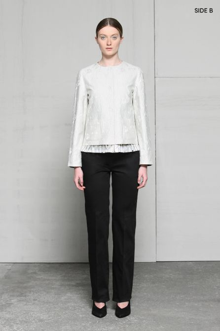 Jacket with Pleats Detail