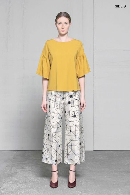 Reversible Relaxed Fit Cropped Pants