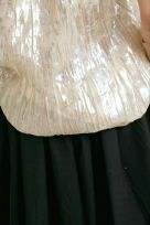 Pleated Gold Laminated High Shine Effect Plissée Top - Image 005