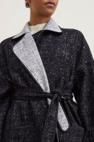 REVERSIBLE COCOON BELTED COAT (Coming Soon) - Image 004