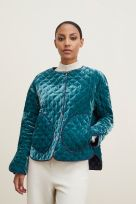 REVERSIBLE QUILTED JACKET WITH REMOVABLE COLLAR - Image 001