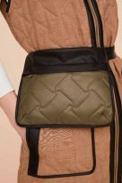 Reversible Quilted Long Waistcoat Leather Binding with Padded Belt Bag - Image 008