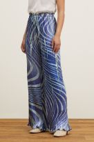 PRINTED WIDE LEG TROUSERS - Image 000